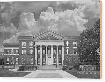 University At Albany Draper Hall Wood Print by University Icons