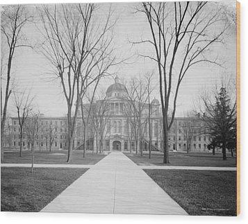 University Hall, University Of Michigan, C.1905 Bw Photo Wood Print
