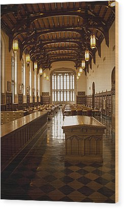 University Library Wood Print by Andrew Soundarajan