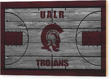 University Of Arkansas At Little Rock Trojans Wood Print by Joe Hamilton