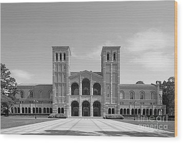 University Of California Los Angeles Royce Hall Wood Print by University Icons