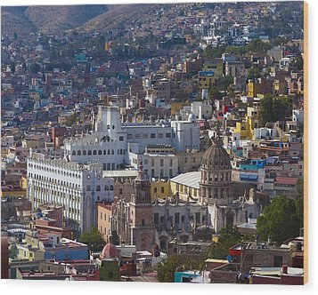University Of Guanajuato Wood Print by Douglas J Fisher