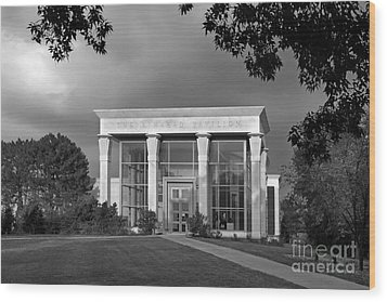 University Of Illinois Kinkead Pavilion Wood Print by University Icons