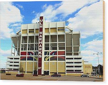 University Of Louisiana At Monroe Malone Stadium Wood Print