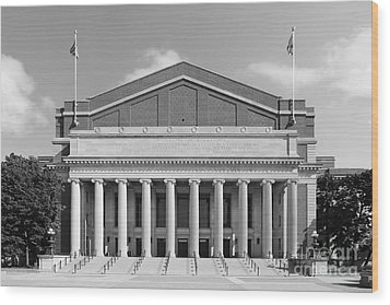 University Of Minnesota Northrop Auditorium Wood Print by University Icons