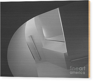 University Of Minnesota Stairwell Wood Print by University Icons