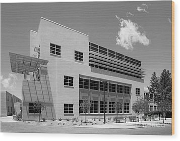 University Of New Mexico Castetter Hall Wood Print by University Icons