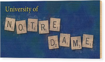 University Of Notre Dame Wood Print