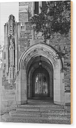 University Of Notre Dame Wood Print by University Icons