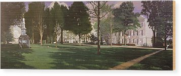 University Of South Carolina Horseshoe 1984 Wood Print