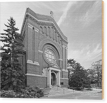 University Of St. Thomas Chapel Of St. Thomas Aquinas Wood Print by University Icons