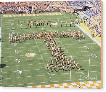 University Of Tennessee Band T  Wood Print
