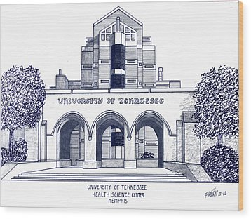 University Of Tennessee Wood Print by Frederic Kohli
