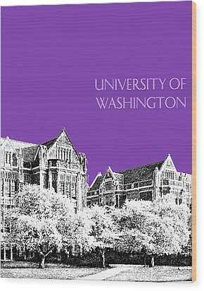 University Of Washington 2 - The Quad - Purple Wood Print by DB Artist