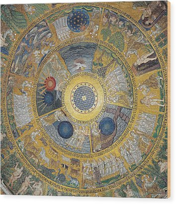 Unknown Artist, Cupola Of The Creation Wood Print by Everett
