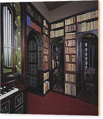 Unknown, Vittoriale Room Of The Lily Wood Print by Everett