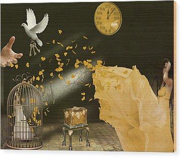 Unlock Thy Inner Self Wood Print