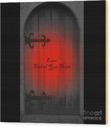 Wood Print featuring the photograph Unlock Your Heart by Linda Prewer