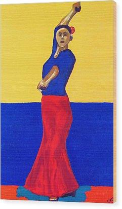 Unnamed Flamenco Dancer Wood Print by Greg Mason Burns
