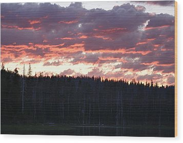Unnamed Sunset I Wood Print by Rich Rauenzahn