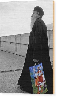 Unorthodox Shopping Bag Wood Print