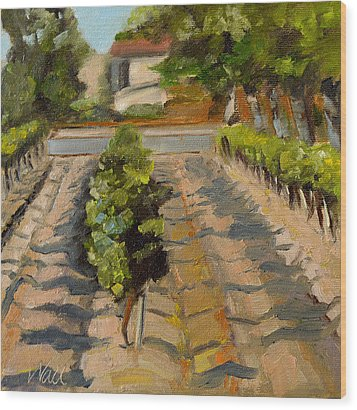 Wood Print featuring the painting Unparalleled Richness by Pattie Wall