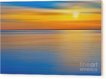 Unseen Sunset - A Tranquil Moments Landscape Wood Print by Dan Carmichael