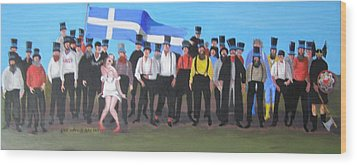 Unst Mail Voice Choir World Tour Wood Print
