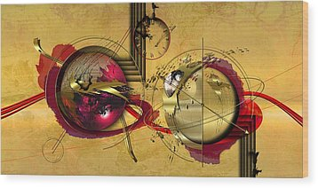 Unstable Stability Wood Print by Franziskus Pfleghart