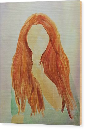 Unsure Wood Print by Elizabeth Sullivan