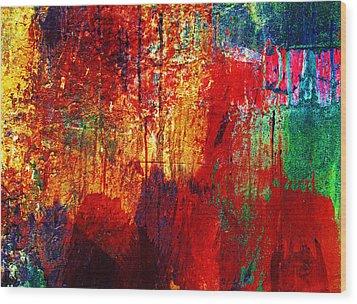 Untamed Colors  Wood Print