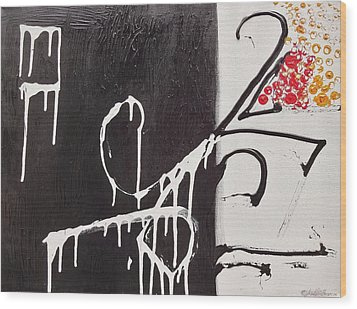 Wood Print featuring the painting Untitled # 1 by Jason Williamson