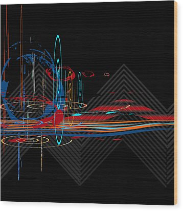 Wood Print featuring the digital art Untitled 76 by Andrew Penman