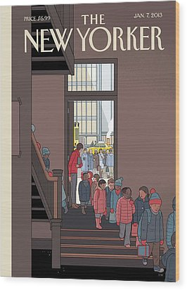 New Yorker January 7th, 2013 Wood Print by Chris Ware
