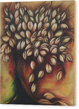Untitled Floral Gift Wood Print by Juliann Sweet