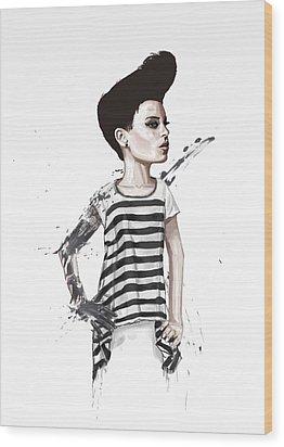 untitled II Wood Print by Balazs Solti