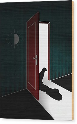 Untitled No.02 Wood Print by Caio Caldas