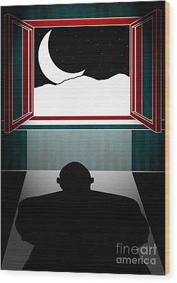 Untitled No.04 Wood Print by Caio Caldas