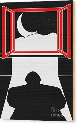 Untitled No.05 Wood Print by Caio Caldas