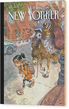 New Yorker September 13th, 2010 Wood Print by Peter de Seve