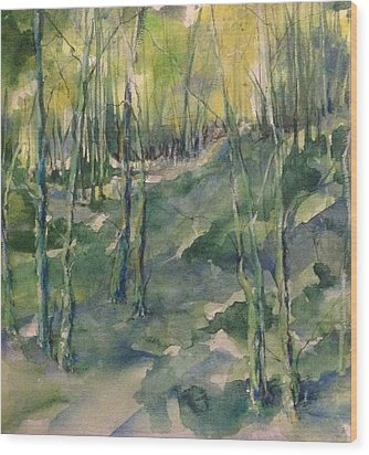 Untitled Swamp  Wood Print by Robin Miller-Bookhout