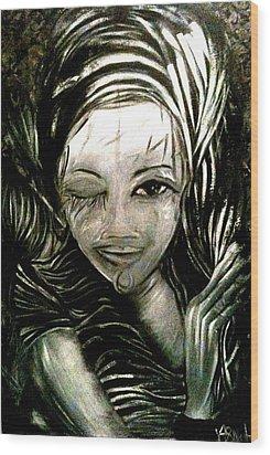 Untitled -the Seer Wood Print by Juliann Sweet