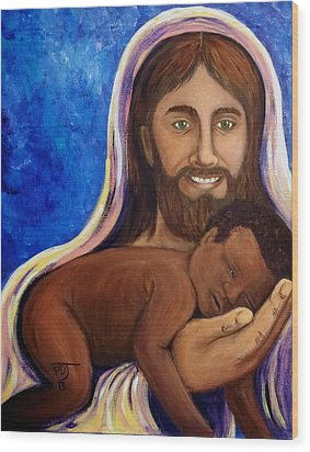 Unto You A Godly Son Is Given Wood Print by Pamorama Jones