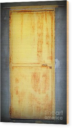 Wood Print featuring the photograph Unused Door by Clare Bevan