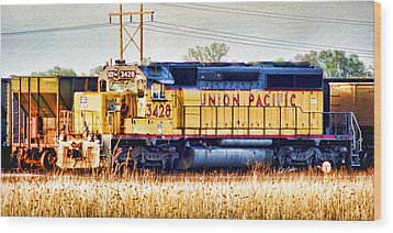 Up 3428 Rcl Locomotive In Color Wood Print