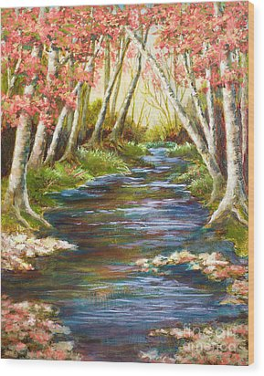 Up A Creek Wood Print