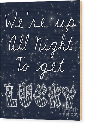 Up All Night Wood Print by Pati Photography