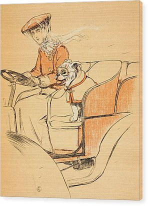 Up Front Wood Print by Cecil Charles Windsor Aldin