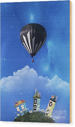 Up Through The Atmosphere Wood Print by Juli Scalzi