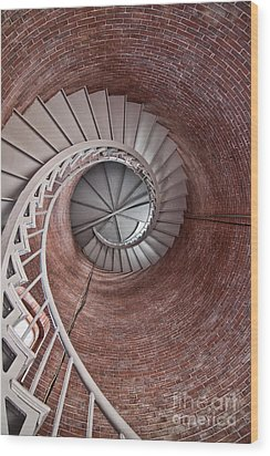 Up Through The Spiral Staircase Wood Print by K Hines